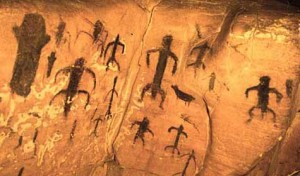 Cave drawings on Sicily - Learn about John Lennon's Connection to Shamanism in the new John Lennon Movie - Shaman's of Rock and Roll