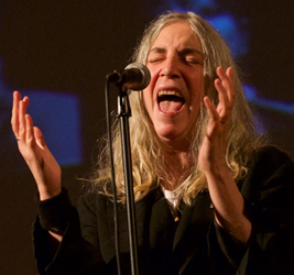 Patti Smith performing at the Orpheum Theatre 2015